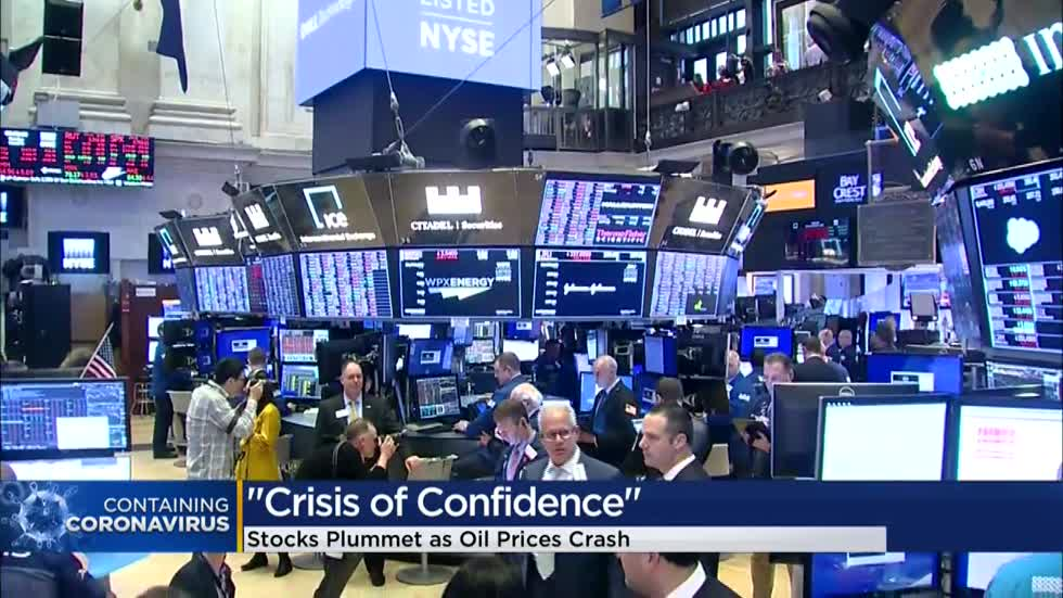 'Crisis of confidence:' Stocks plummet as oil prices crash, coronavirus fear spreads