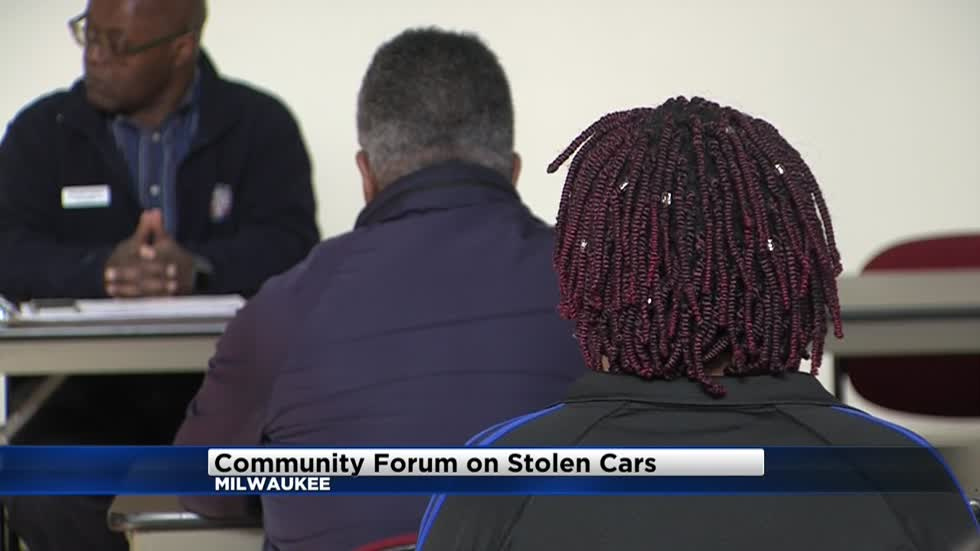 Milwaukee community forum held to address carjackings, stolen car epidemic