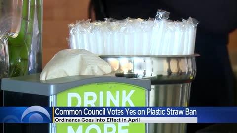 Common council approves ban on plastic straws in Milwaukee