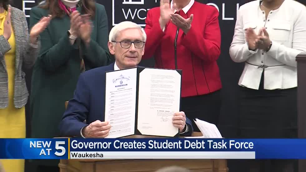 Governor Evers signs order creating student debt task force