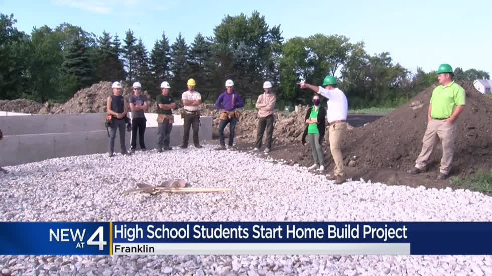 Students break ground on Franklin High School home build