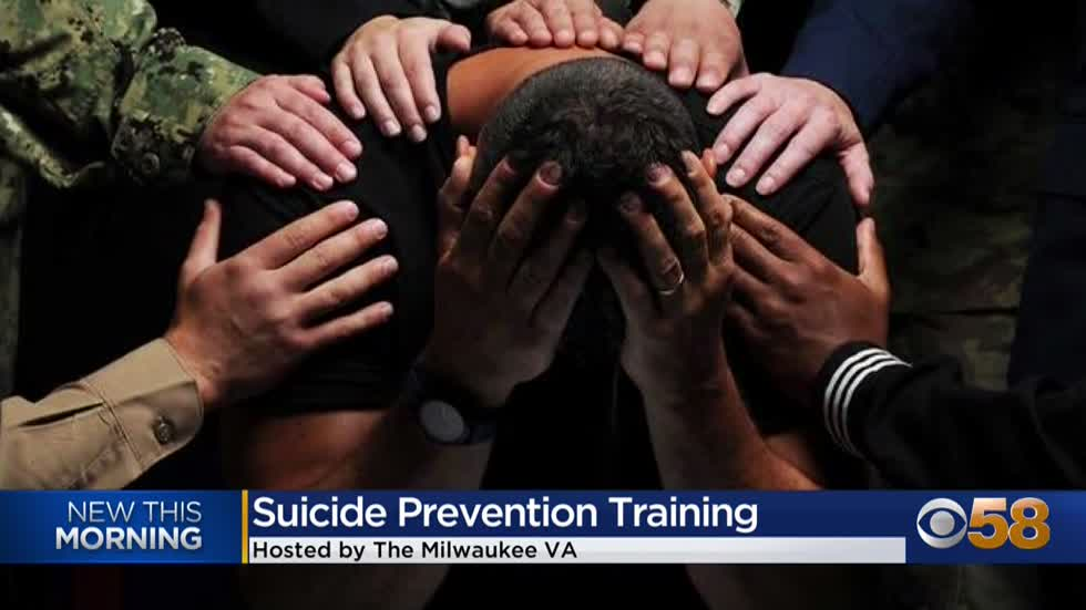 The Milwaukee VA & War Memorial Center team up to host a first-of-its-kind suicide prevention training class