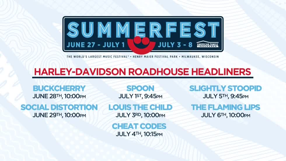 Summerfest's Harley-Davidson Roadhouse headliners announced