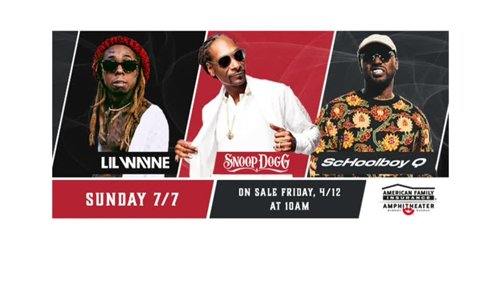 Lil Wayne, Snoop Dogg and ScHoolboy Q to headline Summerfest July 7