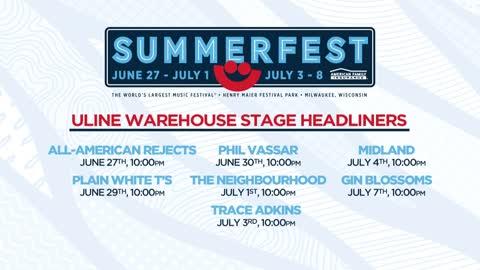 Line-up released for Summerfest's Uline Warehouse