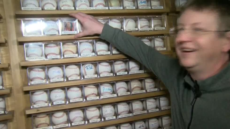 Brewers fan's massive signed baseball collection destined to...