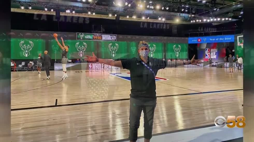 Playing to the crowd at home: Bucks' DJ Shawna on challenge of empty arena games
