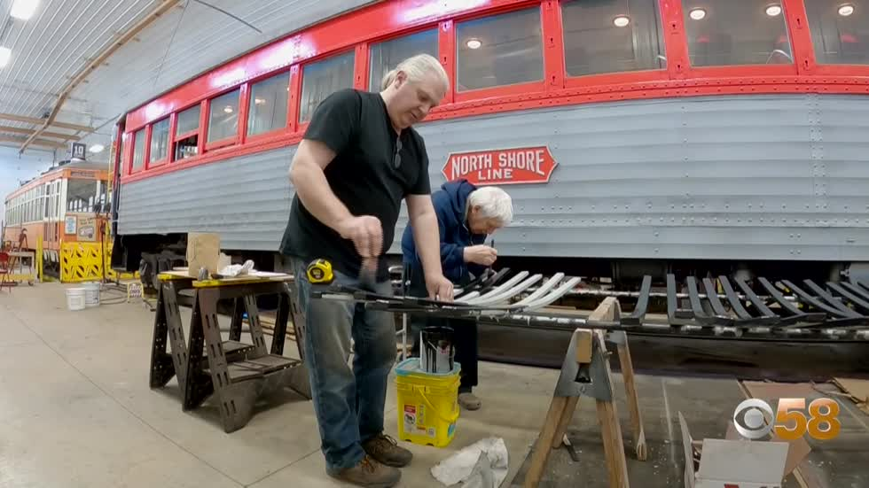 East Troy Electric Railroad volunteer Bob Stankovsky celebrates 50 years of preserving Wisconsin locomotive history