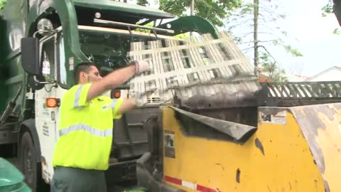 Neighbors bid farewell to beloved St. Francis garbage collector