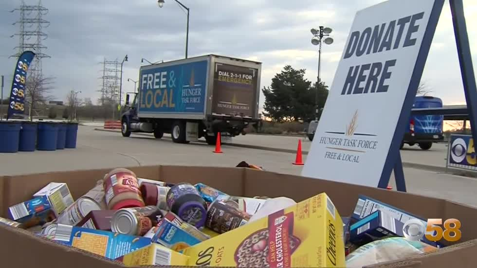 Hunger Task Force Drive-Thu Food Drive continues to accept donations...
