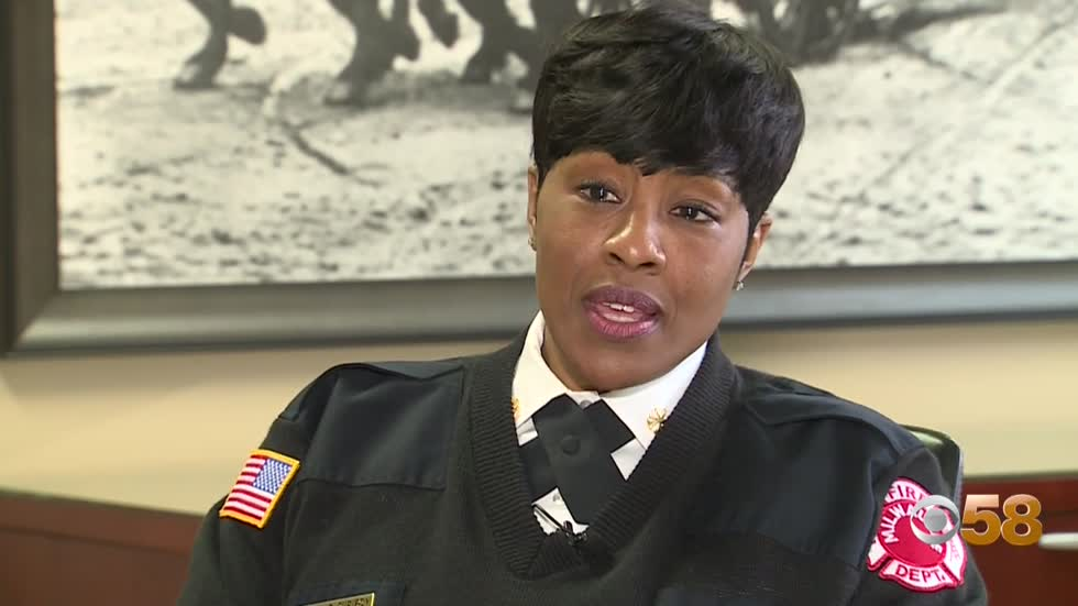 Milwaukee Fire Department's Sharon Purifoy makes history as first African-American female elevated to Deputy Chief