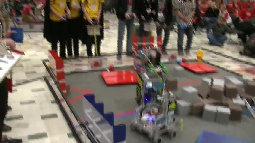 Metal might: Local high school robotics programs show off skills in statewide competition
