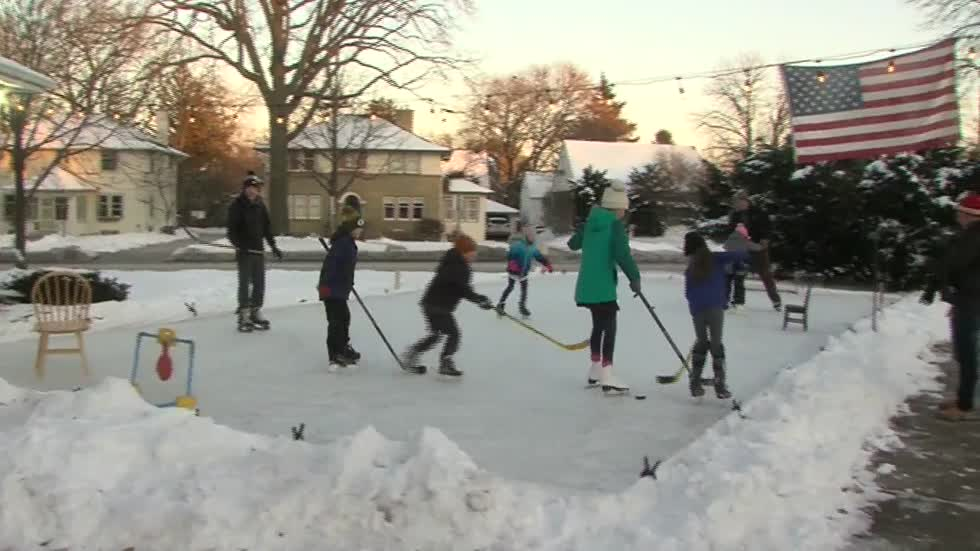 Wauwatosa homeowner relives childhood memories through DIY front yard ice rink