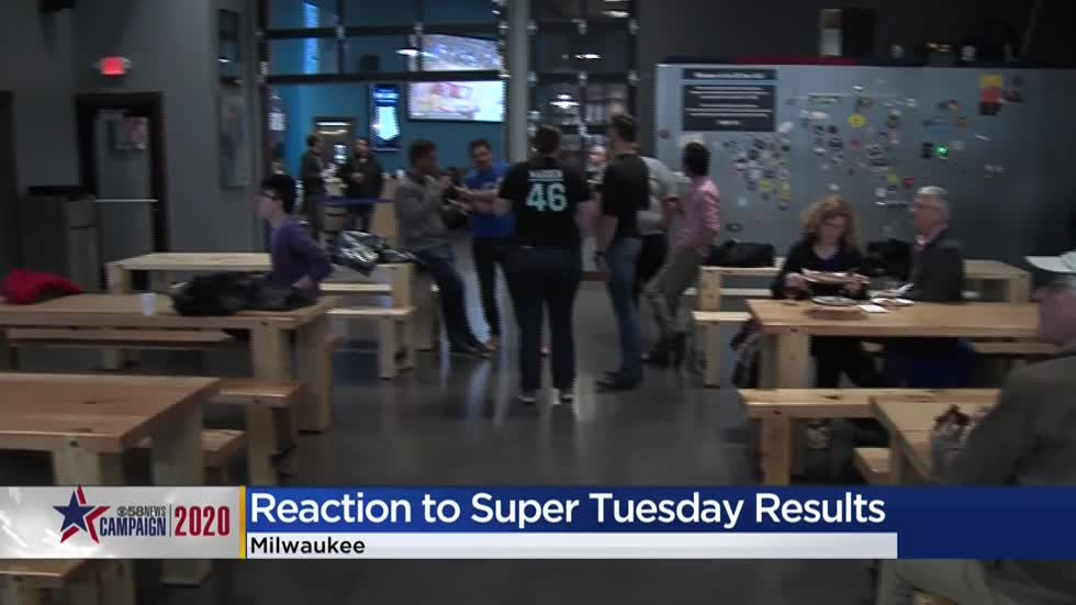 Wisconsin voters react to Super Tuesday results at area watch parties