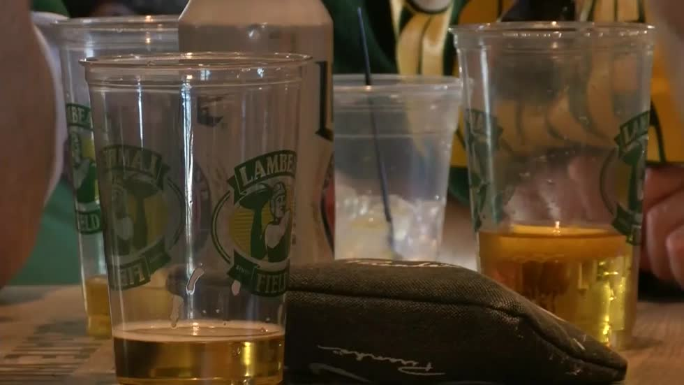 Packer Fans Watch Season Opener at Lambeau's Tailgate Village