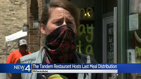 Tandem restaurant hosts last free meal distribution before returning...