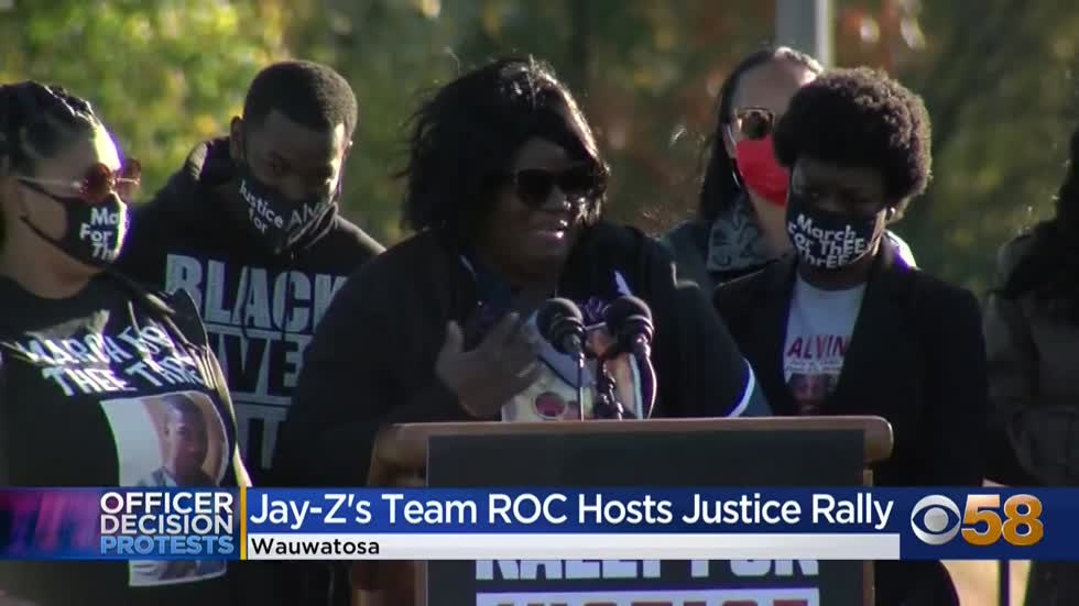 Team ROC, Jay-Z's social justice group, hosts rally for Alvin Cole in Wauwatosa