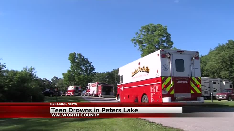 UPDATE: Body of 14-year-old boy found in Walworth County lake after possible drowning