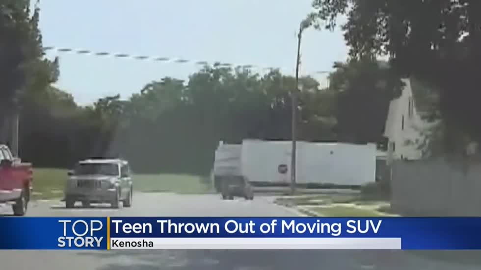 Video: Girl says teen pushed her out of moving SUV during Kenosha County police pursuit