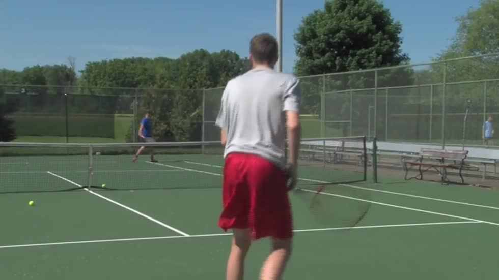 Triplets, younger brother from Brookfield East High School competing in state tennis tournament