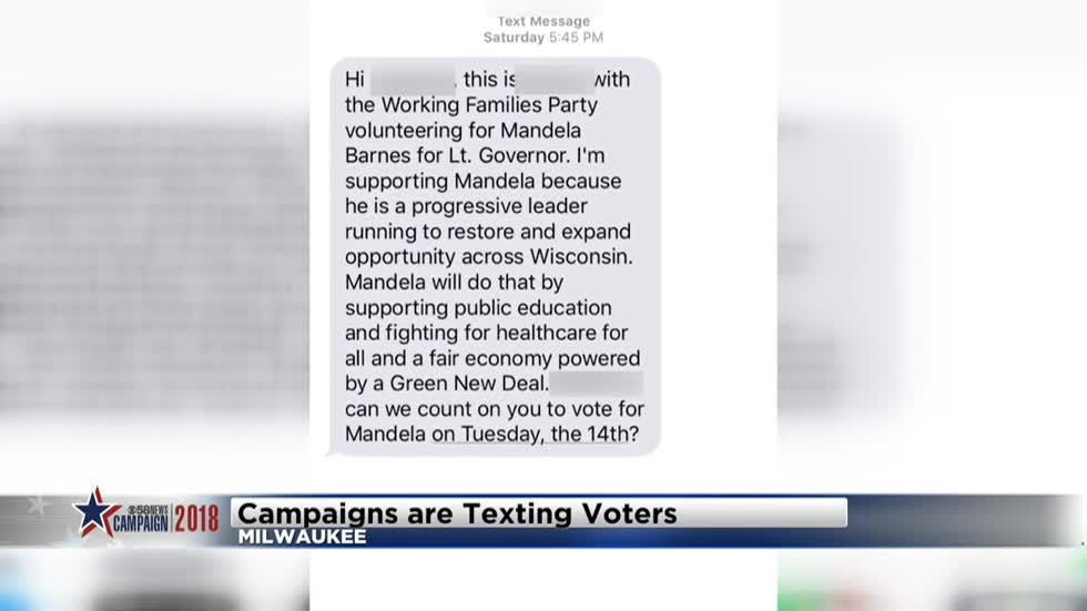 Local campaigns texting voters ahead of Wisconsin primary