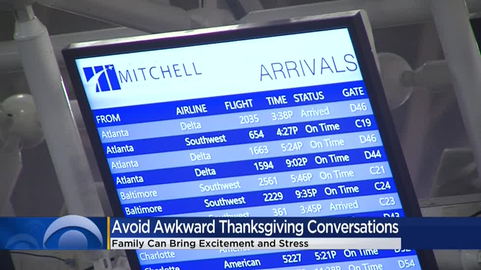 Thanksgiving travelers brace for stress, potential conflict with family members