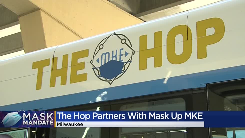 The Hop, Mask Up MKE unveil masked up streetcar through new partnership