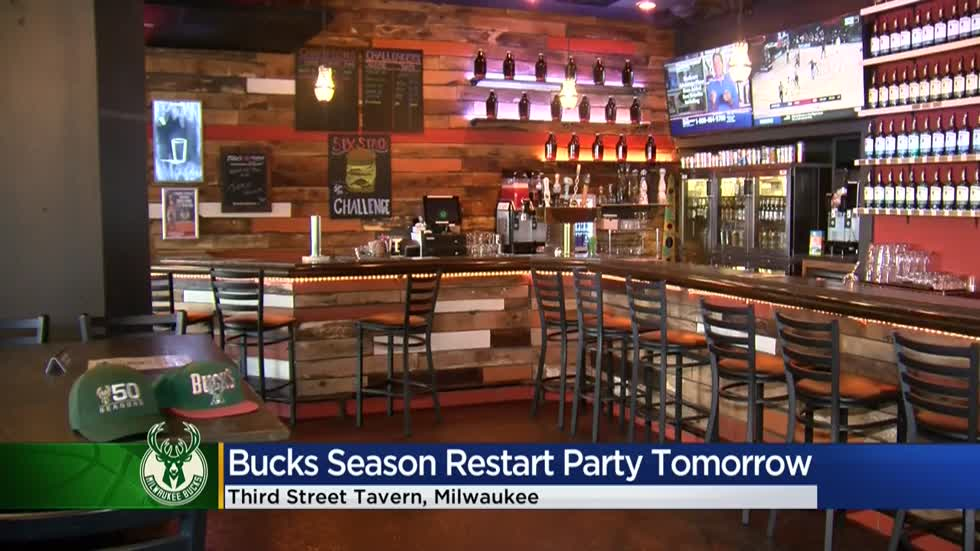 "Bucks are back, and Milwaukee's ""Third Street Tavern"" is ready to celebrate the return..."