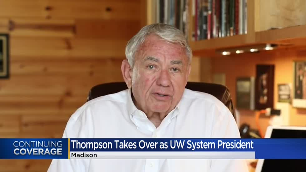 Tommy Thompson takes over as UW System president