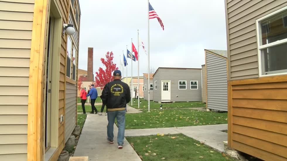 Tiny homes for veterans gets ready to open in Racine