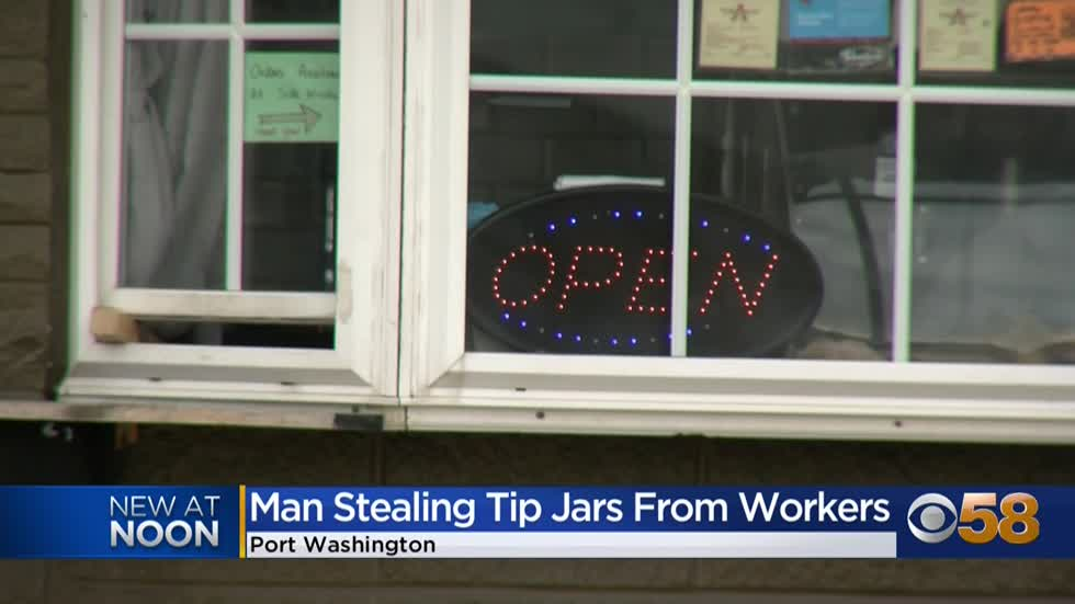 Man accused of stealing multiple tip jars in Ozaukee County
