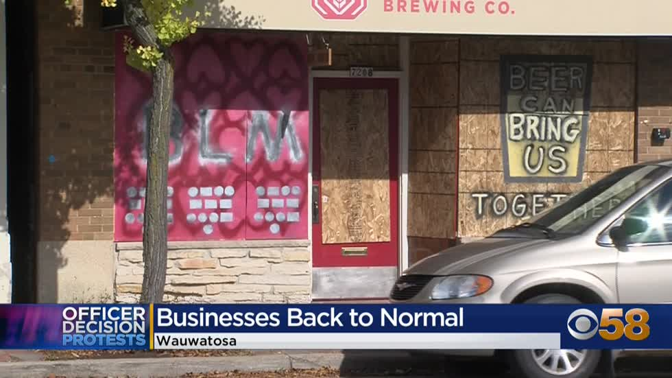 'Relieved:' Bit of normalcy returns to Wauwatosa businesses following nights of protests