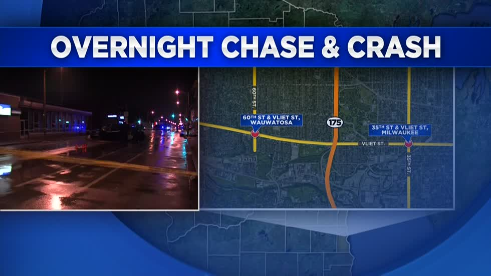 UPDATE: Driver in Wauwatosa chase and crash near 35th and Vliet arrested for fleeing and 2nd OWI