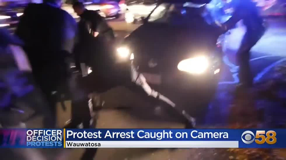 'Unlawful' protesters parade through Wauwatosa; police deploy smoke and pepper spray