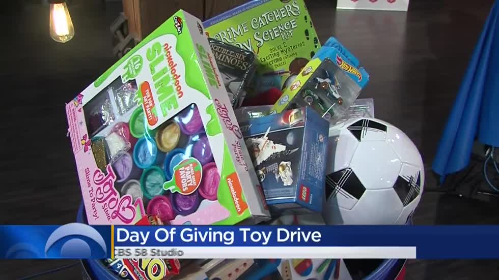 CBS 58 teams up with Steinhafels, Salvation Army for toy drive on Giving Tuesday