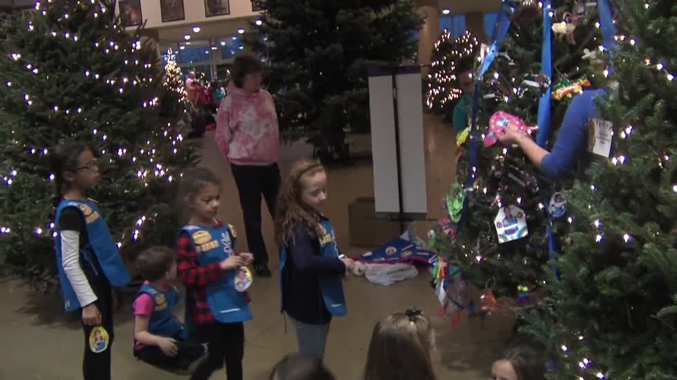 Youth Groups decorate Christmas trees at the Milwaukee ...
