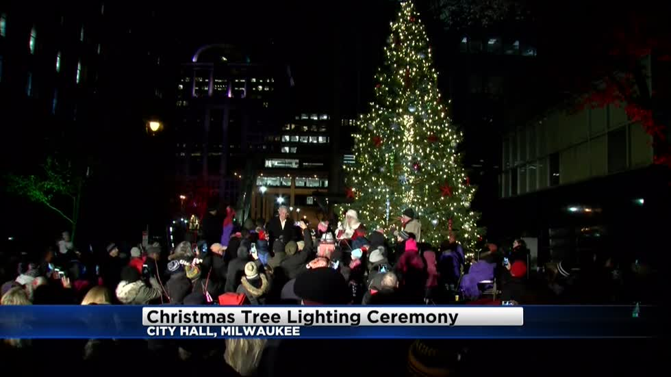 It's beginning to look a lot like Christmas outside Milwaukee's City Hall