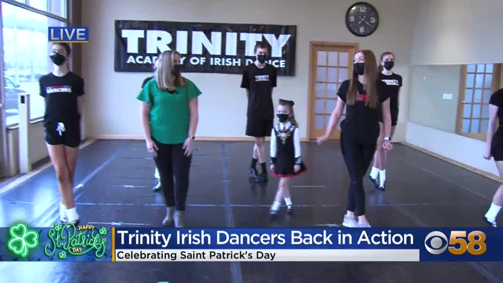 Trinity Irish Dancers celebrating St. Patrick's Day around southeastern Wisconsin
