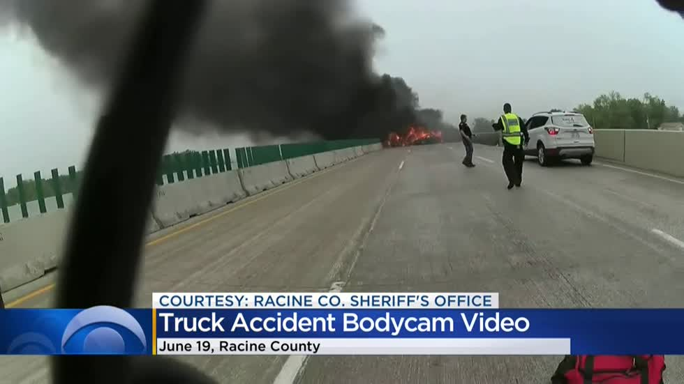 Body cam video released from I-94 crash in Racine County