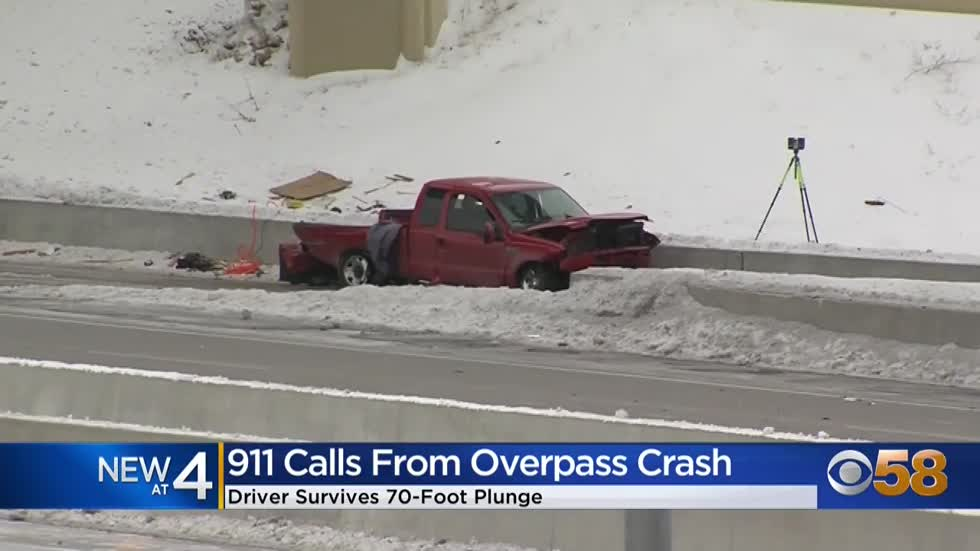 911 callers panic after witnessing truck falling 70 feet in Zoo Interchange
