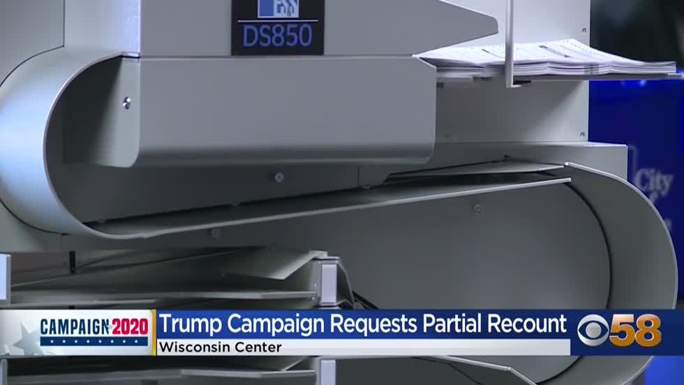 Trump campaign files partial recount, says Milwaukee and Dane counties had 'worst irregularities'