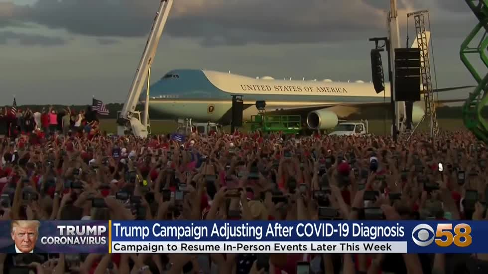 Trump campaign adjusts to COVID-19 hospitalization