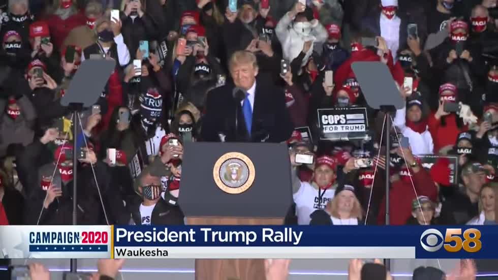 President Trump seeks 'four more great years' as he rallies...
