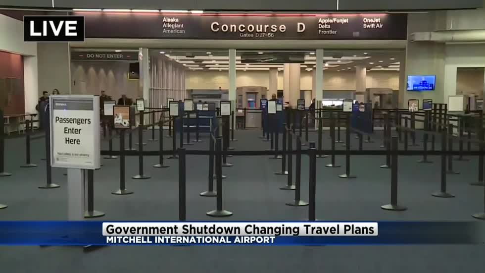 TSA not seeing impact of government shutdown at General Mitchell Airport