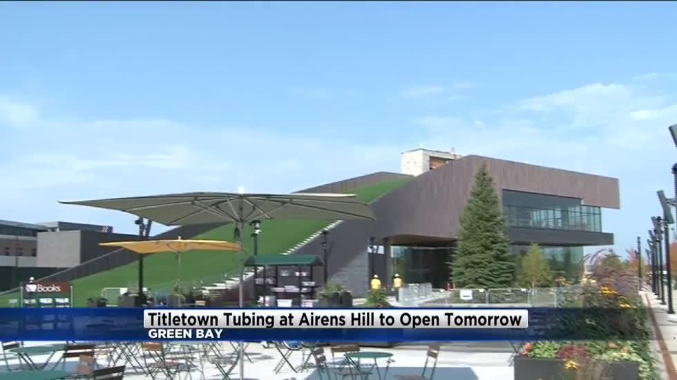 Tubing hill in Packers Titletown will open Thursday