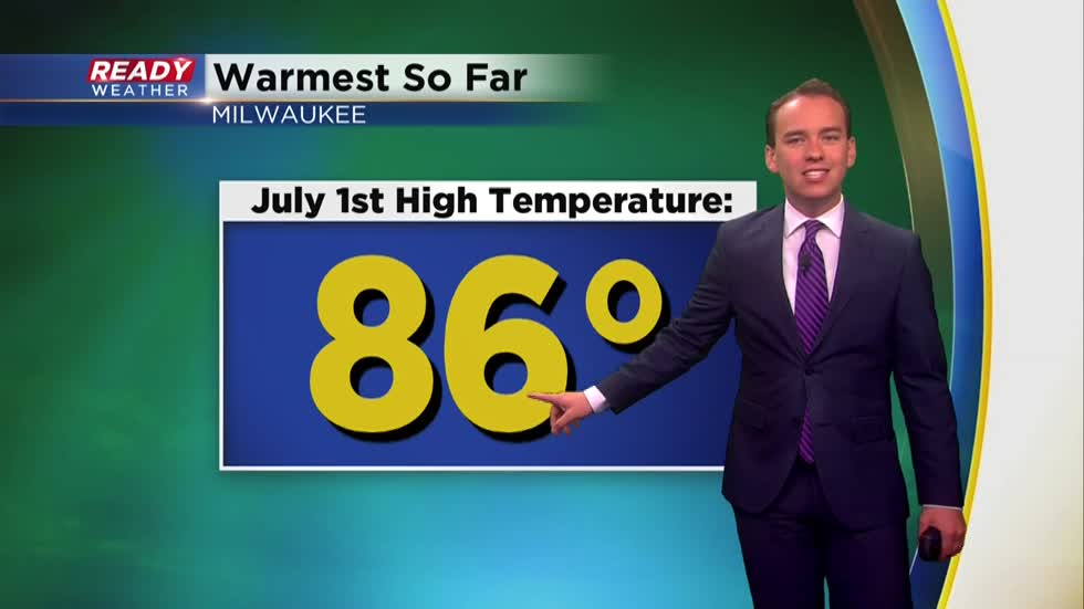 Warmth and humidity continue after warmest day of the year