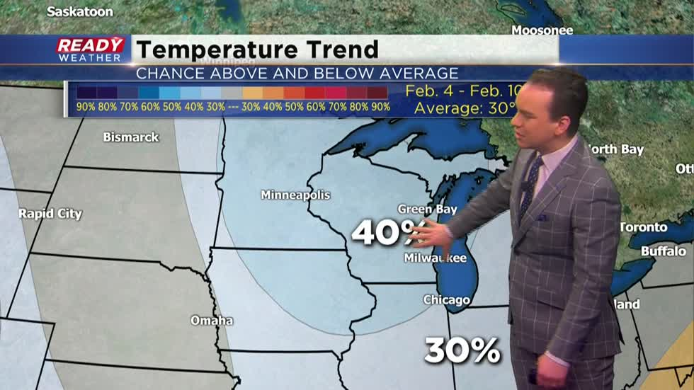 Mild temperatures continue to end January with colder air looming in February