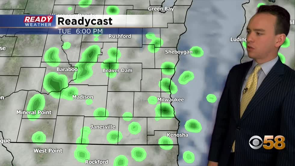 Steady shower chances through the end of September