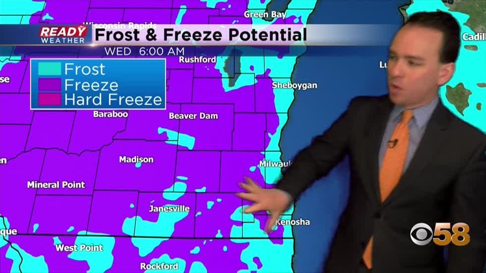 Frost and freeze back in the forecast as temperatures drop back...