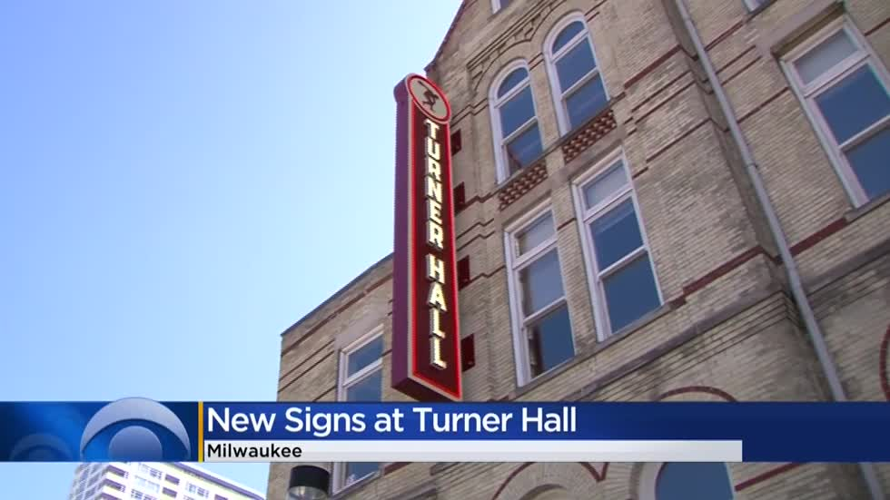 New, modern signs unveiled at Milwaukee's Turner Hall